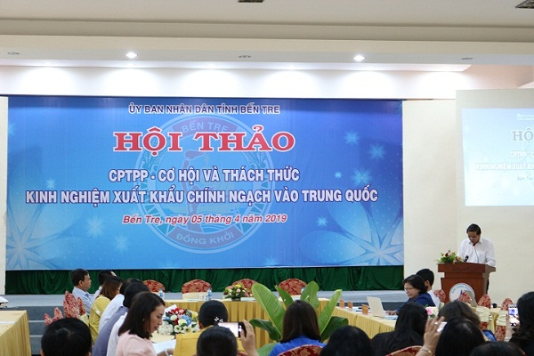 Hội thảo CPTPP – Cơ hội và thách thức, kinh nghiệm xuất khẩu chính ngạch vào Trung Quốc